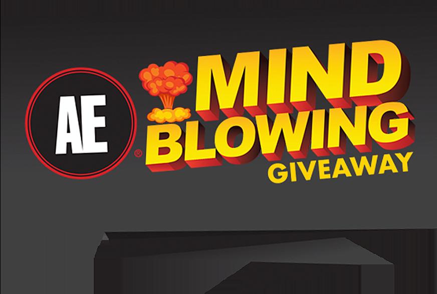 Ae mind blowing logo